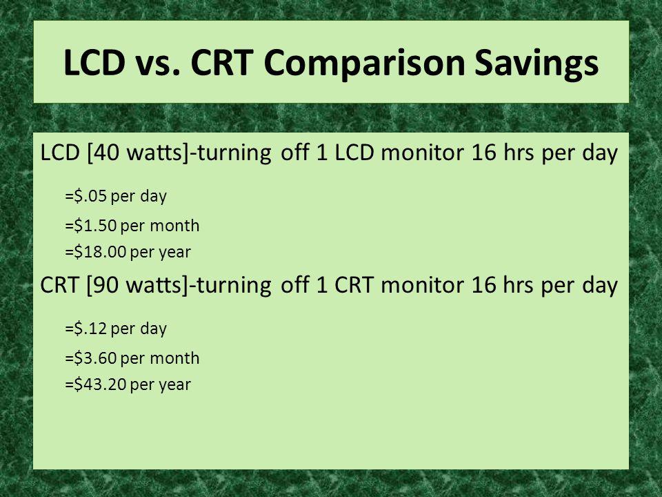 LCD vs.