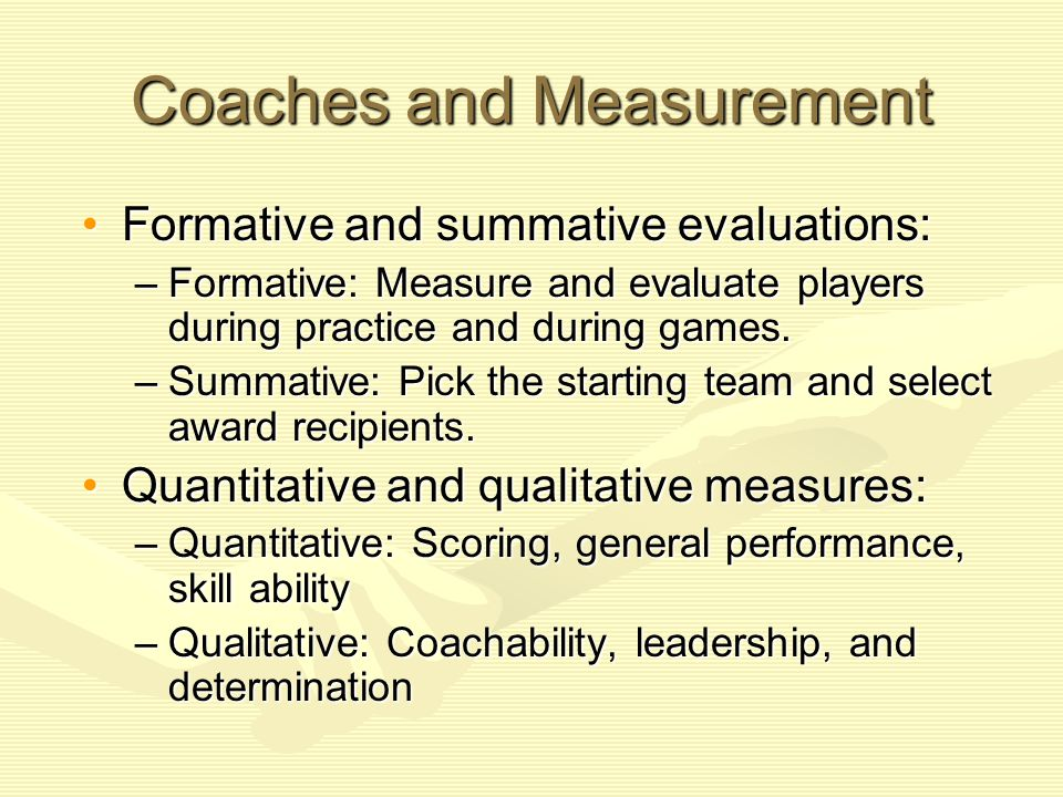 Measuring Recruits— Professional Sport Spend time and effort examining every aspect of a potential investmentSpend time and effort examining every aspect of a potential investment Conduct various tests:Conduct various tests: –Combine: Tryout to determine which prospects to draft –Post-combine performance testing –Tests of specific skills