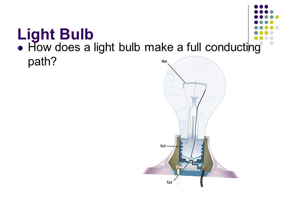 Light Bulb How does a light bulb make a full conducting path?
