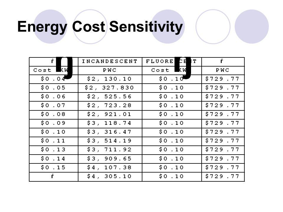 Energy Cost Sensitivity