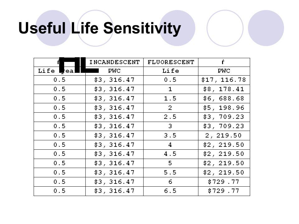 Useful Life Sensitivity