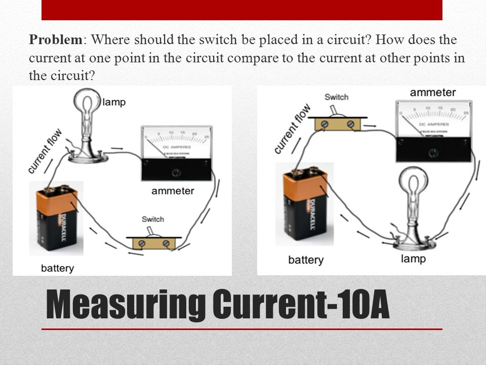 Post Lab Questions 5.How does the current in any one location of the circuit compare to the current at other places in the circuit.
