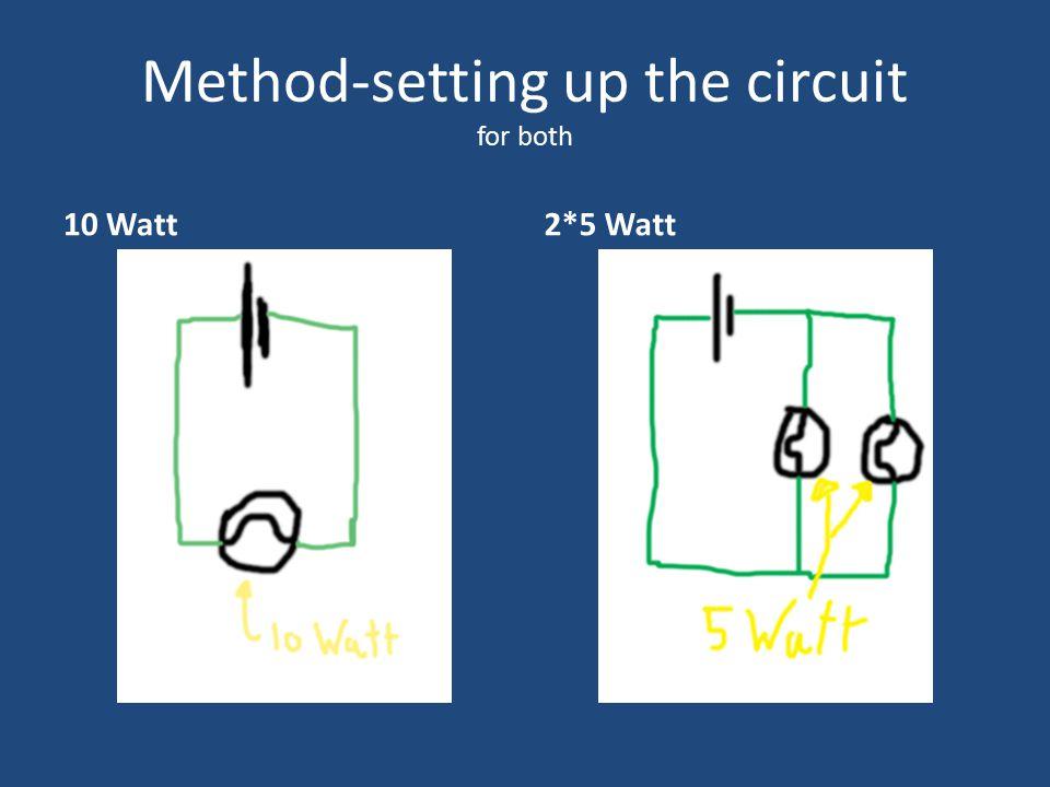 Method-setting up the circuit for both 10 Watt2*5 Watt