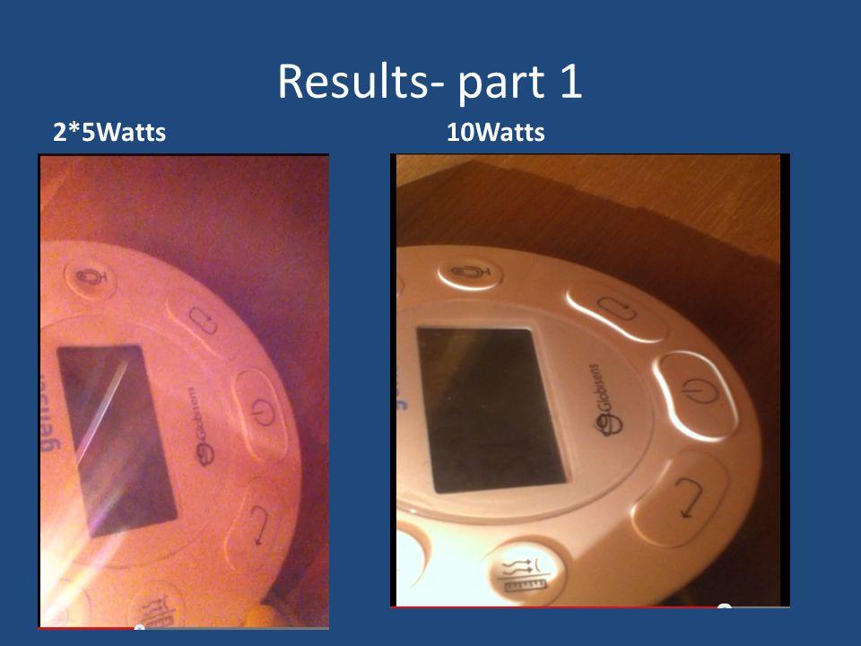 Results- part 1 2*5Watts10Watts