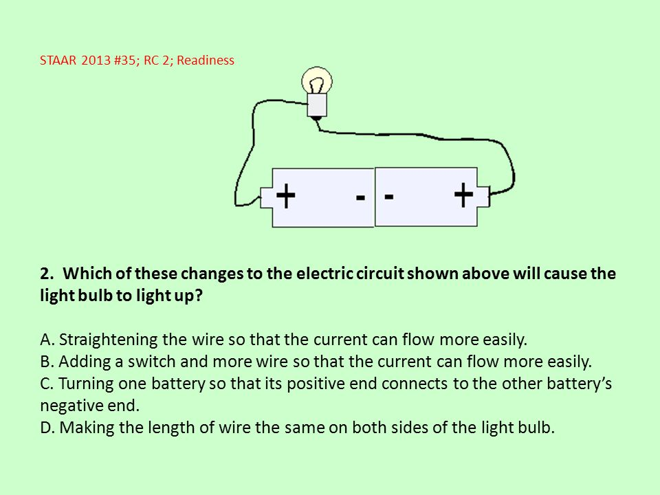 22. Electricity can flow in a circuit and can produce— Aheat Bsound Clight Dall of the above