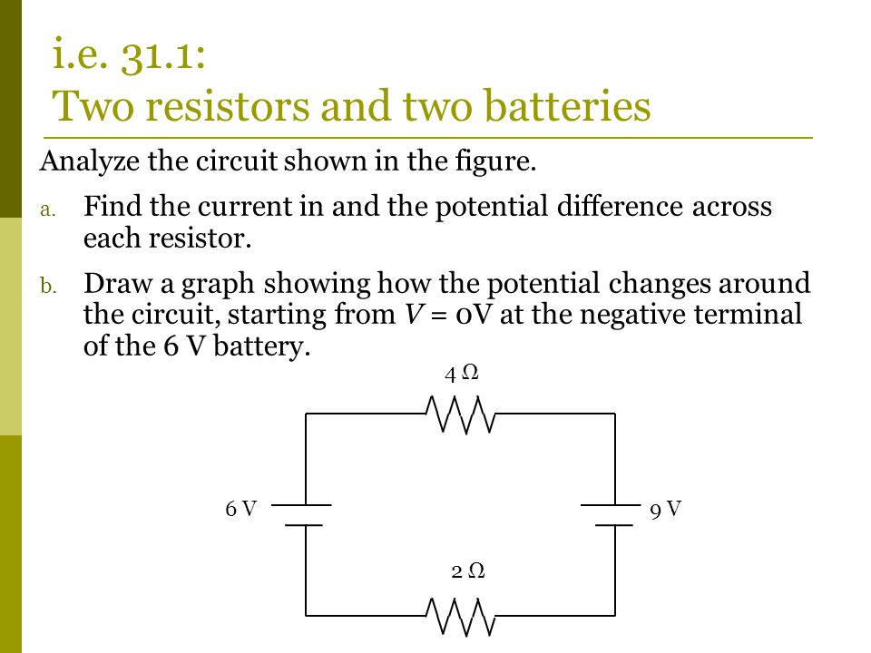 The potential difference across the 10 Ω resistor is… 1.