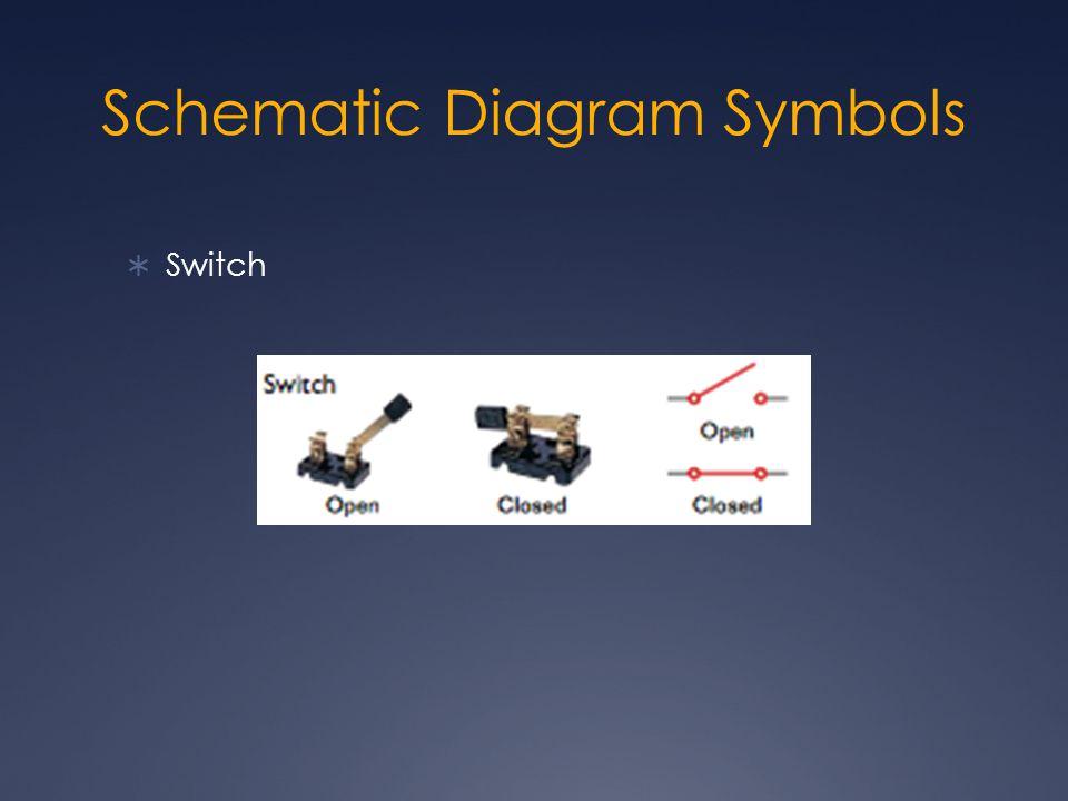 Schematic Diagram Symbols  Switch