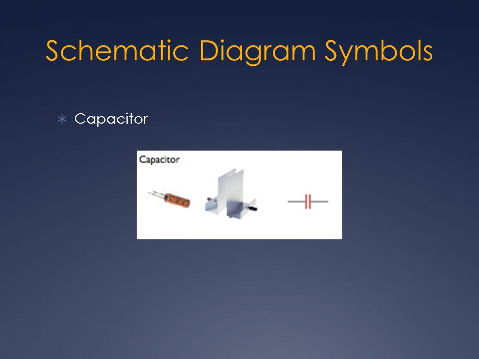 Schematic Diagram Symbols  Capacitor