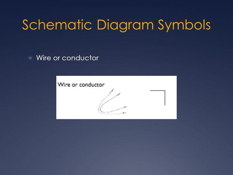 Schematic Diagram Symbols  Wire or conductor