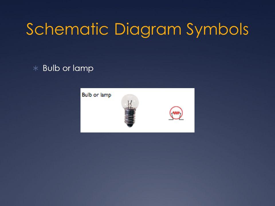 Schematic Diagram Symbols  Bulb or lamp