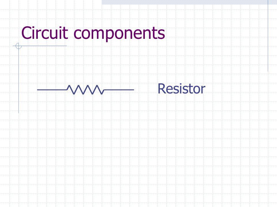 Circuit components Resistor