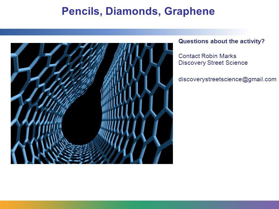 Pencils, Diamonds, Graphene Questions about the activity.