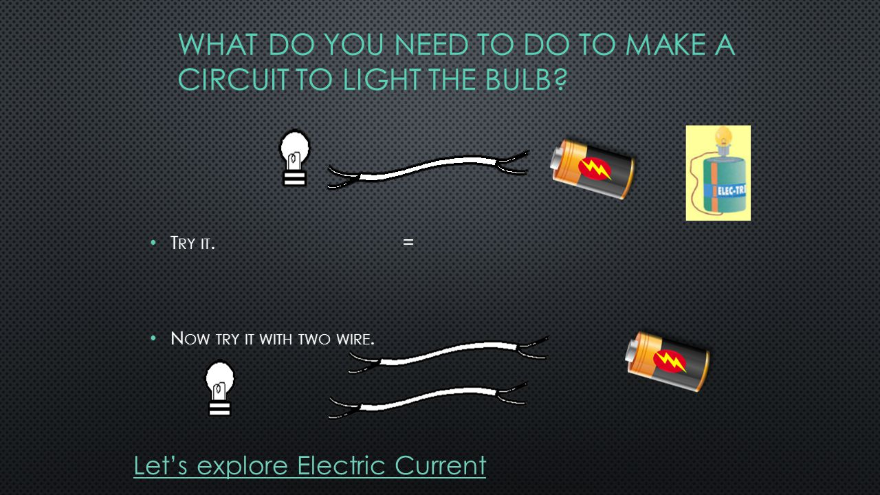 Let's explore Electric Current