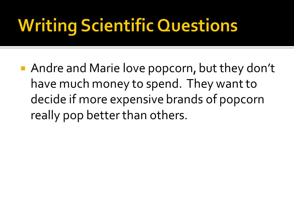 Andre and Marie love popcorn, but they don't have much money to spend.