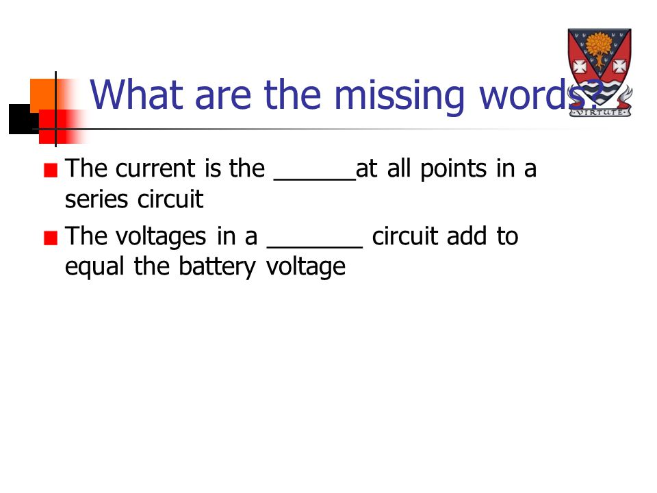 Variable Resistors A torch bulb is marked 6 V, 0.25 A . Calculate the resistance of the bulb.
