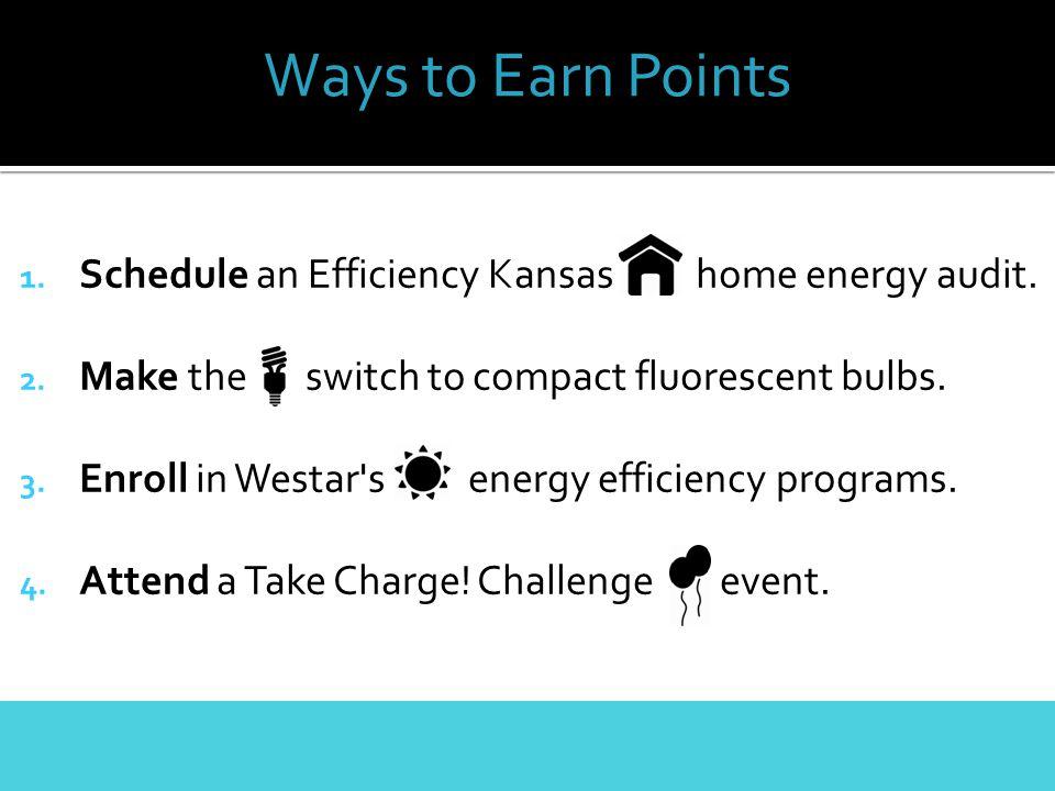 1. Schedule an Efficiency Kansas home energy audit.