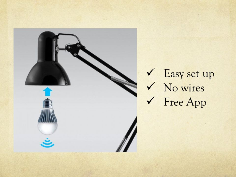 Easy set up No wires Free App