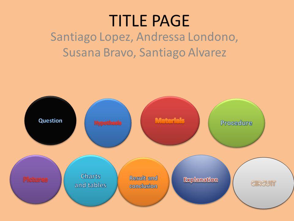 TITLE PAGE Santiago Lopez, Andressa Londono, Susana Bravo, Santiago Alvarez