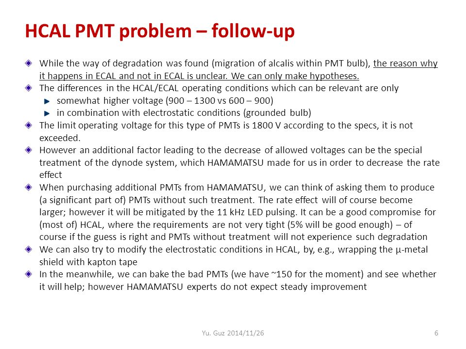 7 CALO operation at high lumi (slides from 2012)
