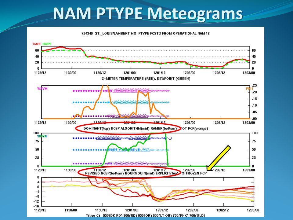 NAM PTYPE Meteograms