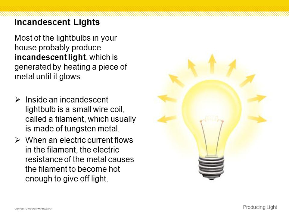 Fluorescent Lights  A fluorescent light uses phosphors to convert ultraviolet radiation to visible light.