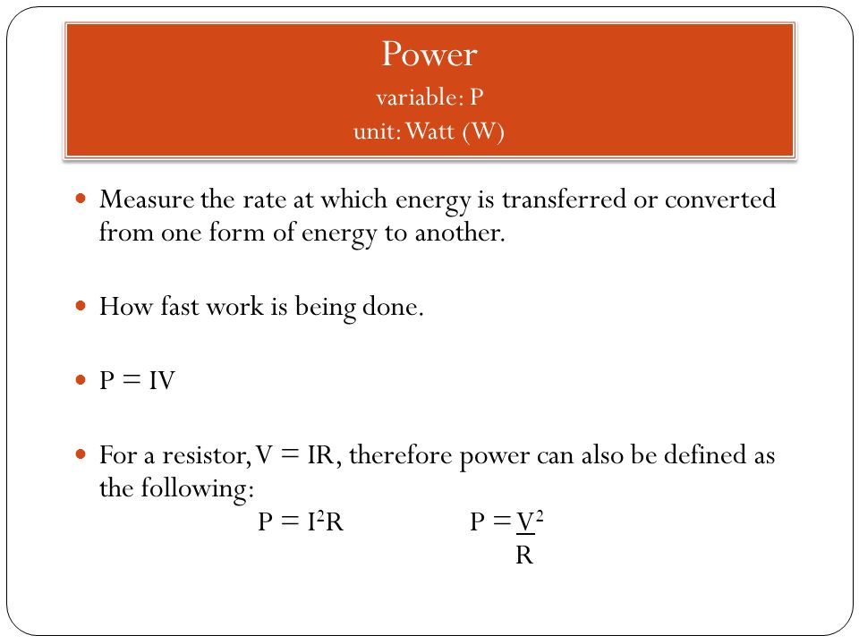 Measure the rate at which energy is transferred or converted from one form of energy to another.