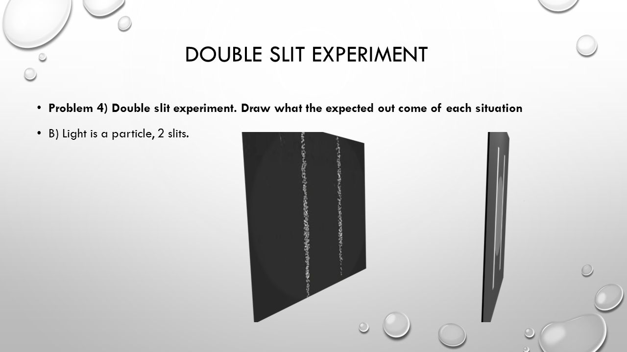 DOUBLE SLIT EXPERIMENT Problem 4) Double slit experiment.