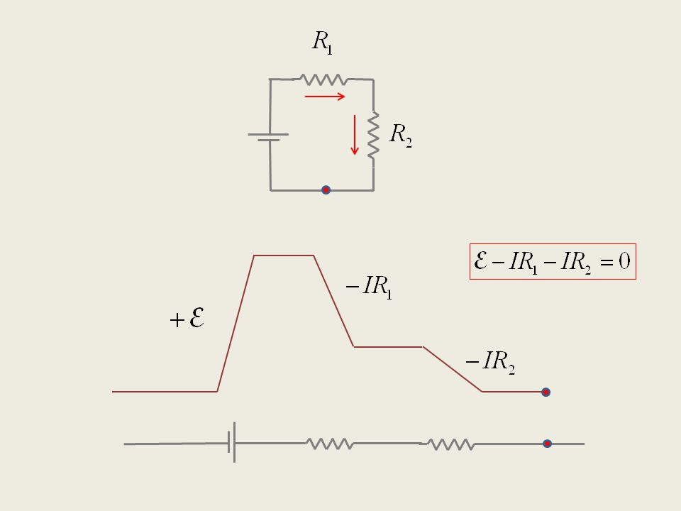 Electric circuits: Kirchhoff's Rules Rule 1: The sum of voltage drops around a loop is always zero.