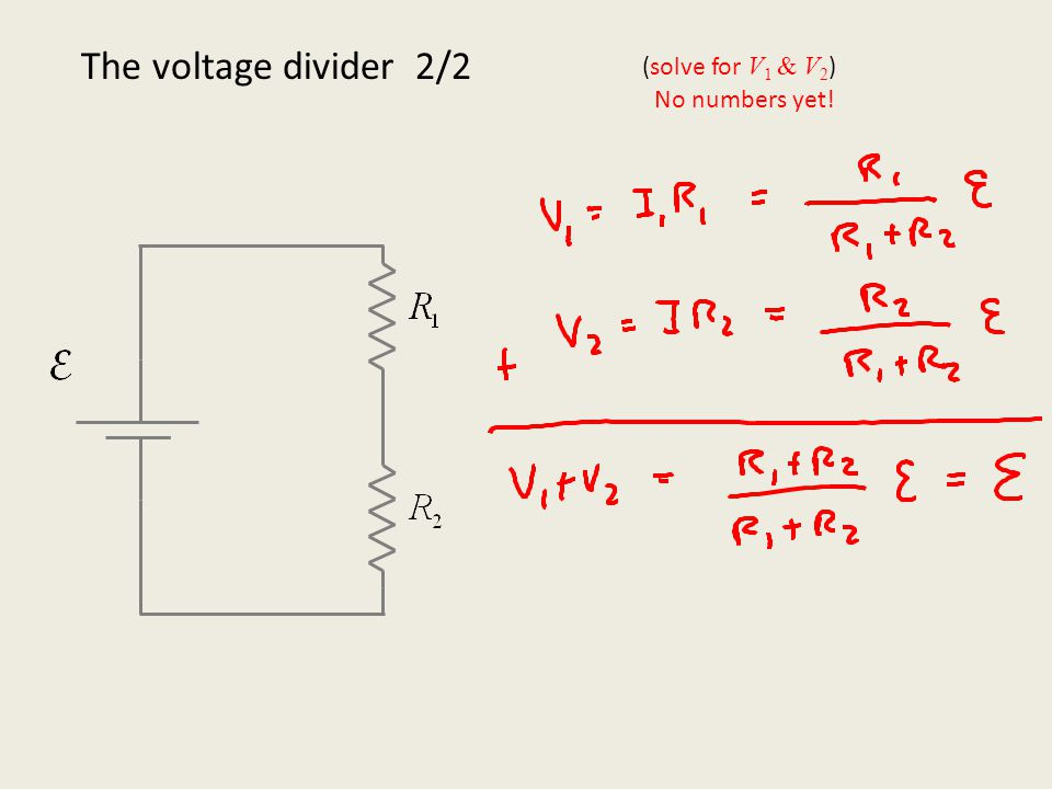 The voltage divider: Numbers!