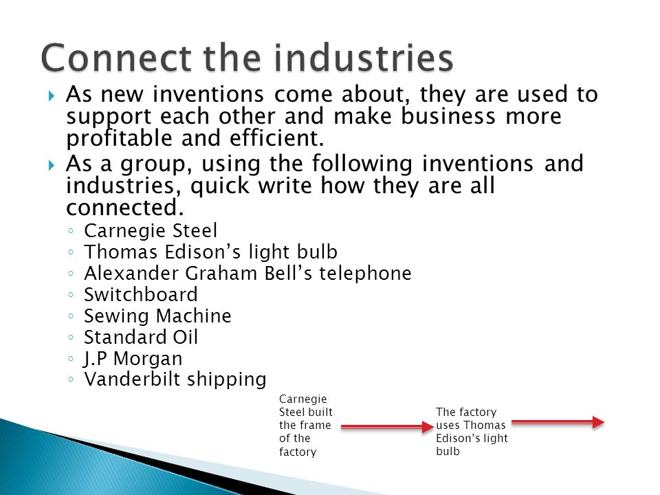  As new inventions come about, they are used to support each other and make business more profitable and efficient.  As a group, using the following