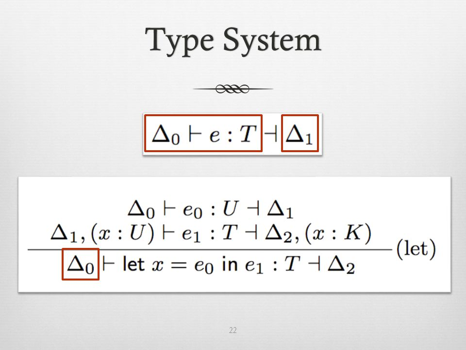 Type SystemType System 22