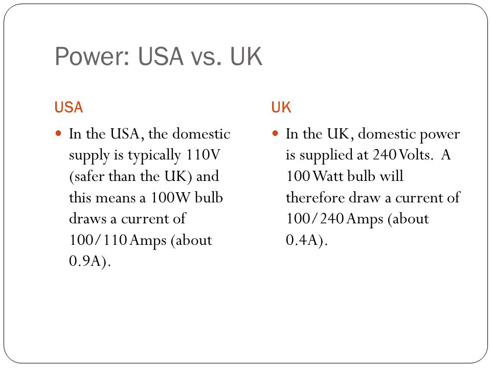 Power: USA vs.