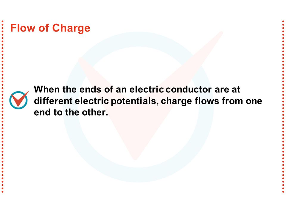 Charge flows in a similar way.