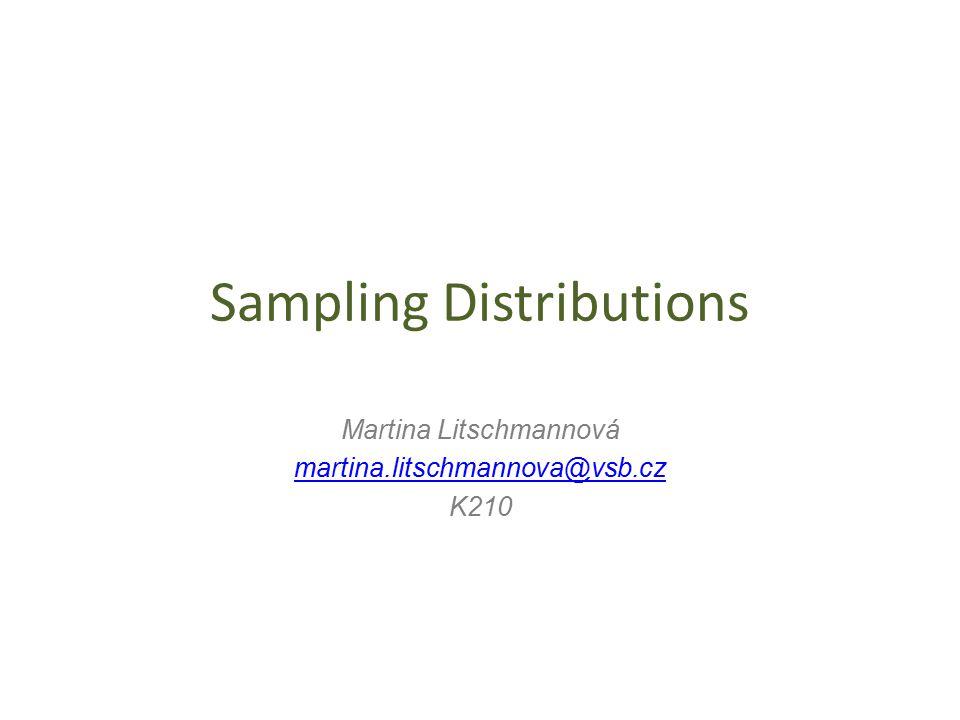 Sampling Distributions Martina Litschmannová martina.litschmannova@vsb.cz K210