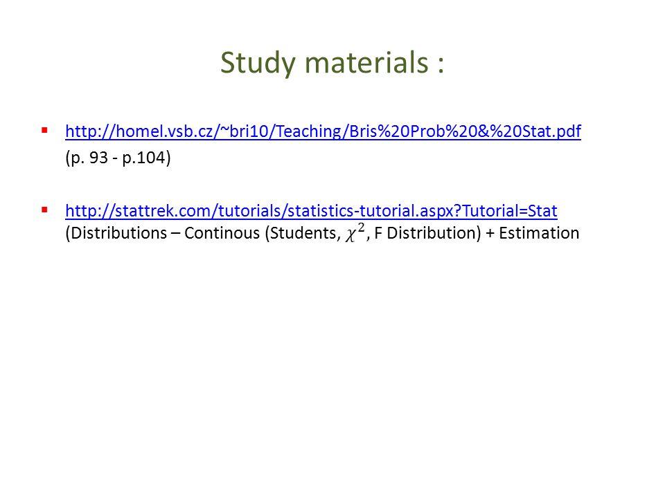 Study materials :