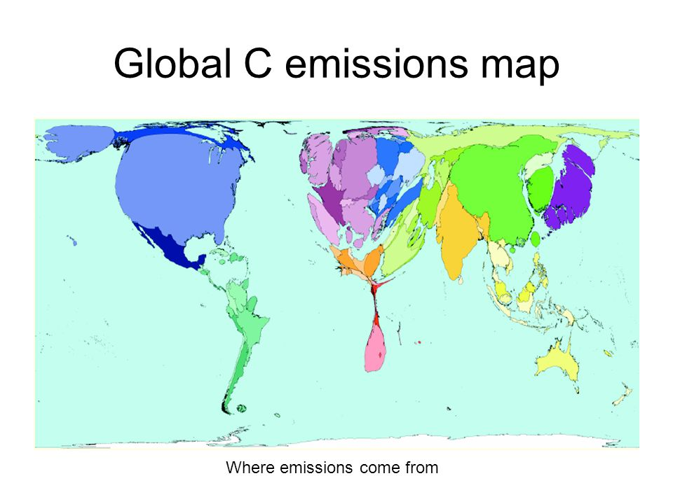 Global C emissions map Where emissions come from