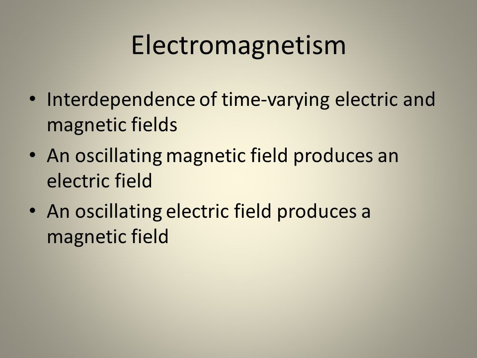 Magnetic Induction A conductor which carries alternating current – Example: copper, silver, aluminum Loop generates an oscillating magnetic field Second loop may pick up current – Power devices Examples of magnetic induction: electric transformers and electric generators