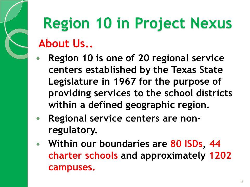 Region 10 in Project Nexus About Us..