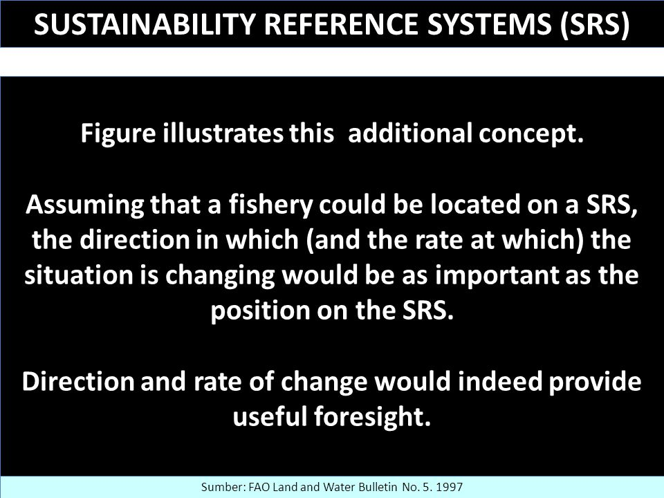 SUSTAINABILITY REFERENCE SYSTEMS (SRS) Figure illustrates this additional concept.