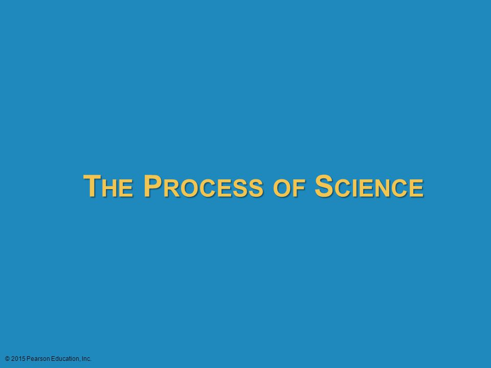 T HE P ROCESS OF S CIENCE © 2015 Pearson Education, Inc.