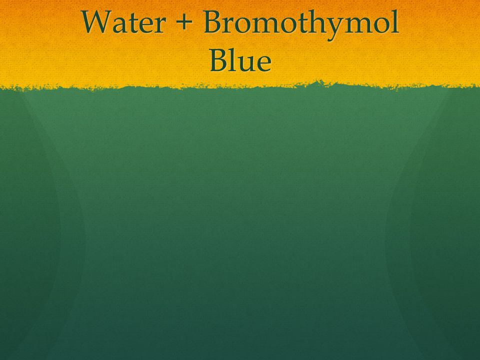 Water + Bromothymol Blue
