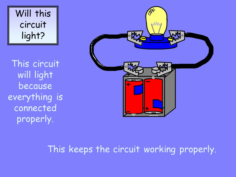 Will this circuit light.