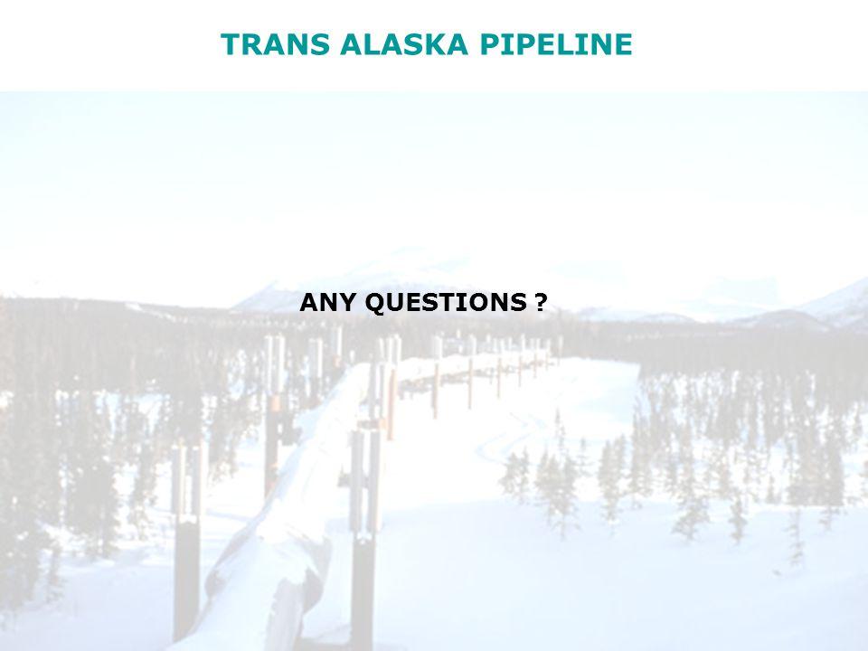 TRANS ALASKA PIPELINE ANY QUESTIONS ?