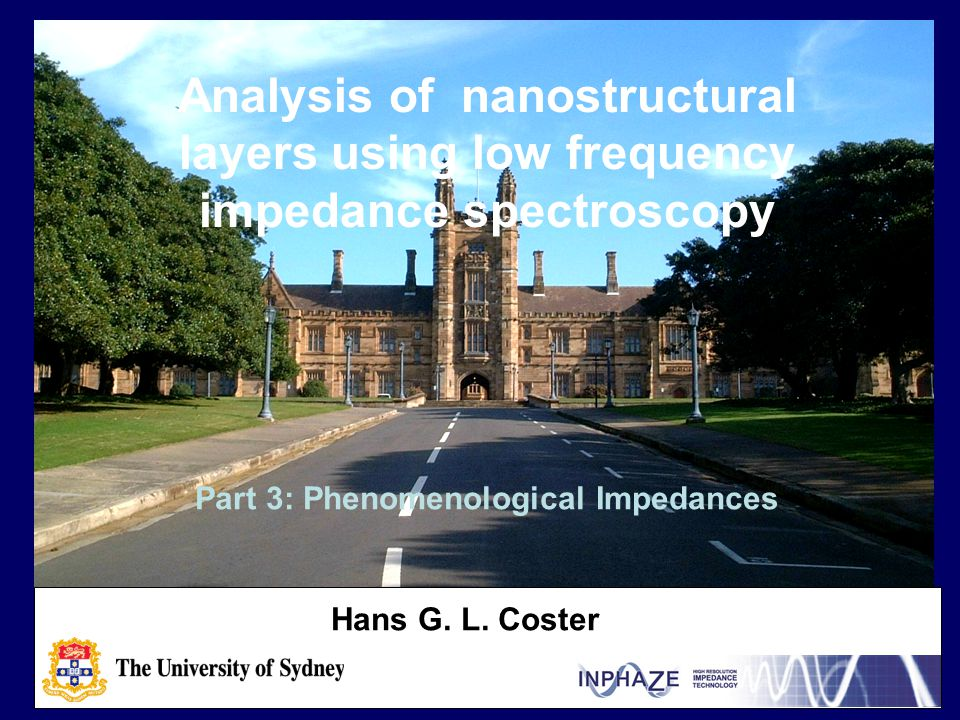 Analysis of nanostructural layers using low frequency impedance spectroscopy Hans G.