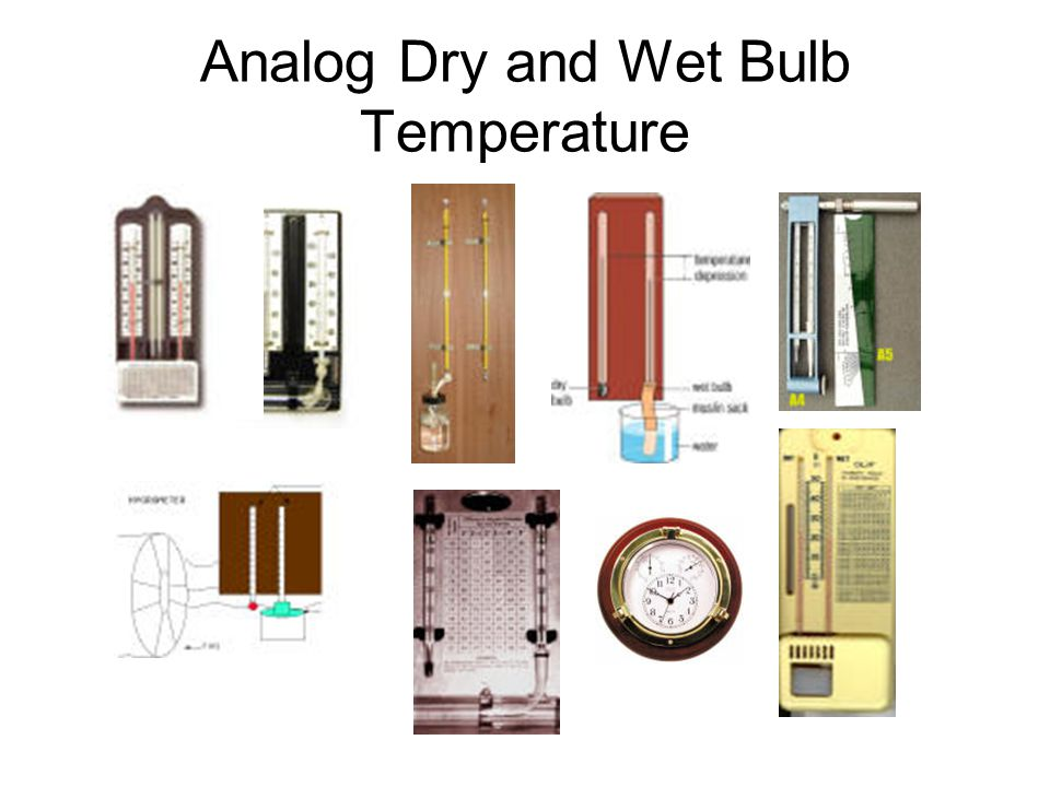 Analog Dry and Wet Bulb Temperature