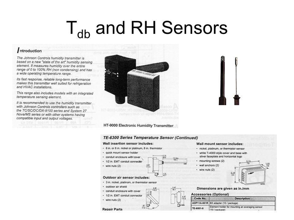 T db and RH Sensors