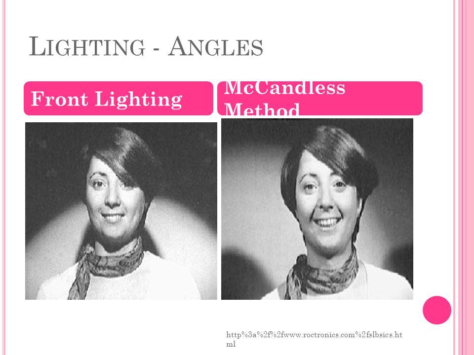 L IGHTING - A NGLES Front Lighting McCandless Method http%3a%2f%2fwww.roctronics.com%2fslbsics.ht ml