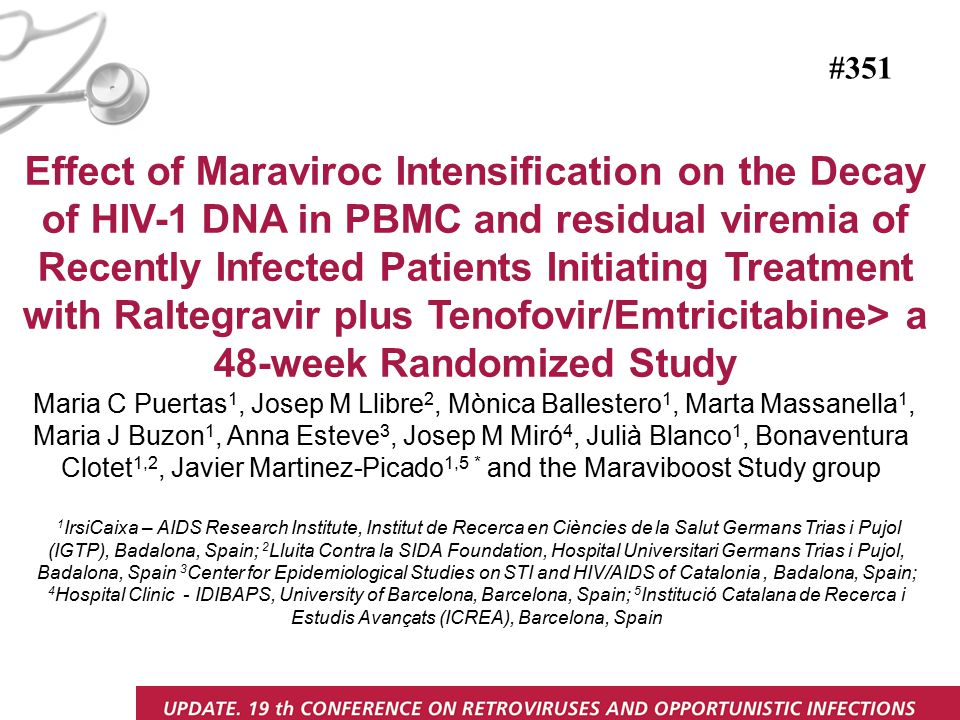 Effect of Maraviroc Intensification on the Decay of HIV-1 DNA in PBMC and residual viremia of Recently Infected Patients Initiating Treatment with Ral