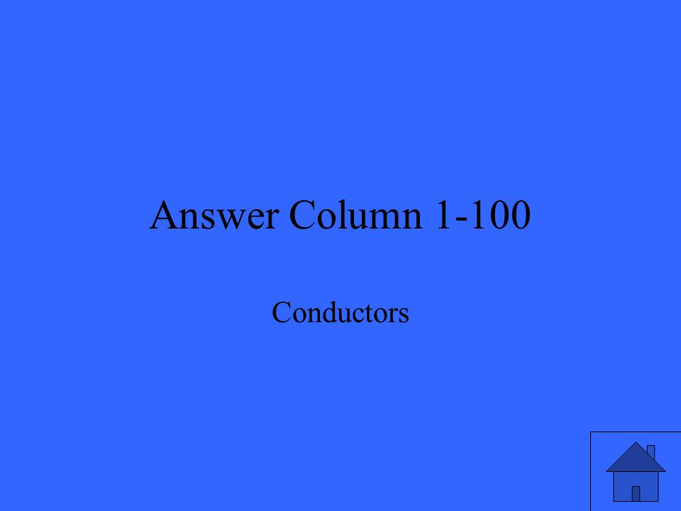 Question Column 1-200 Conduction is energy transfer because two objects are ______________.