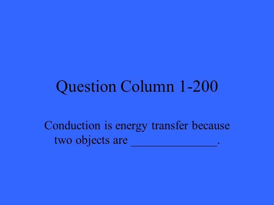 Answer Column 4-200 Electrical energy